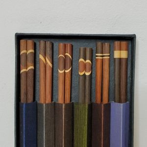 Rosewood Chopsticks wrapped in silk sleeve